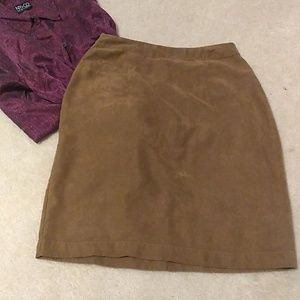 Chico's design vintage look faux suede skirt